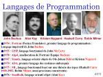langages de programmation