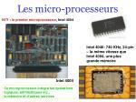 les micro processeurs