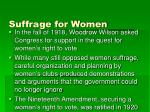 suffrage for women