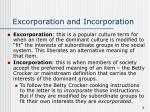 excorporation and incorporation