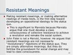 resistant meanings