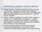 wrestling as popular culture material