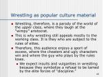 wrestling as popular culture material49