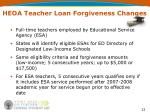 heoa teacher loan forgiveness changes
