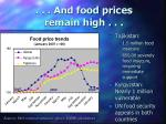 and food prices remain high