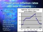 food price inflation rates are now dropping