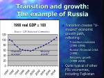 transition and growth the example of russia