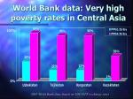 world bank data very high poverty rates in central asia