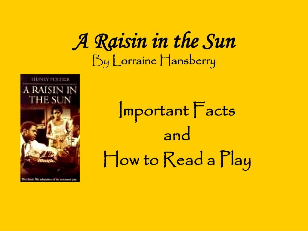 key events in a raisin in the sun