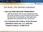 3rd study the german subsidiary