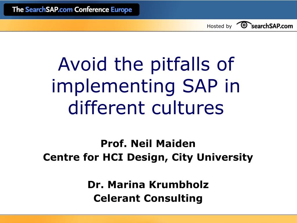 avoid the pitfalls of implementing sap in different cultures l.