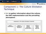 component 1 the culture elicitation technique