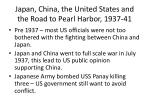 japan china the united states and the road to pearl harbor 1937 41