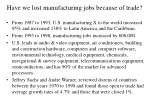 have we lost manufacturing jobs because of trade16