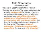 field observation field note excerpt 3