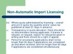 non automatic import licensing12