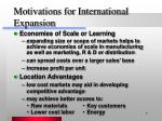 motivations for international expansion6