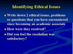 identifying ethical issues