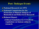 post tuskegee events
