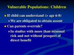 vulnerable populations children
