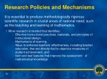 research policies and mechanisms
