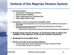 outlook of the nigerian pension system