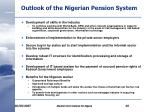 outlook of the nigerian pension system11
