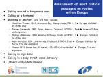 assessment of most critical passages on routes within europe