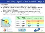 case study impacts on local economies stage 3
