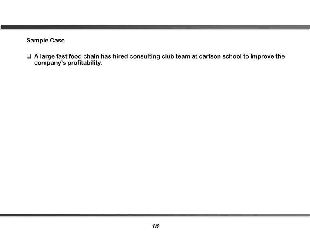 Sample Case