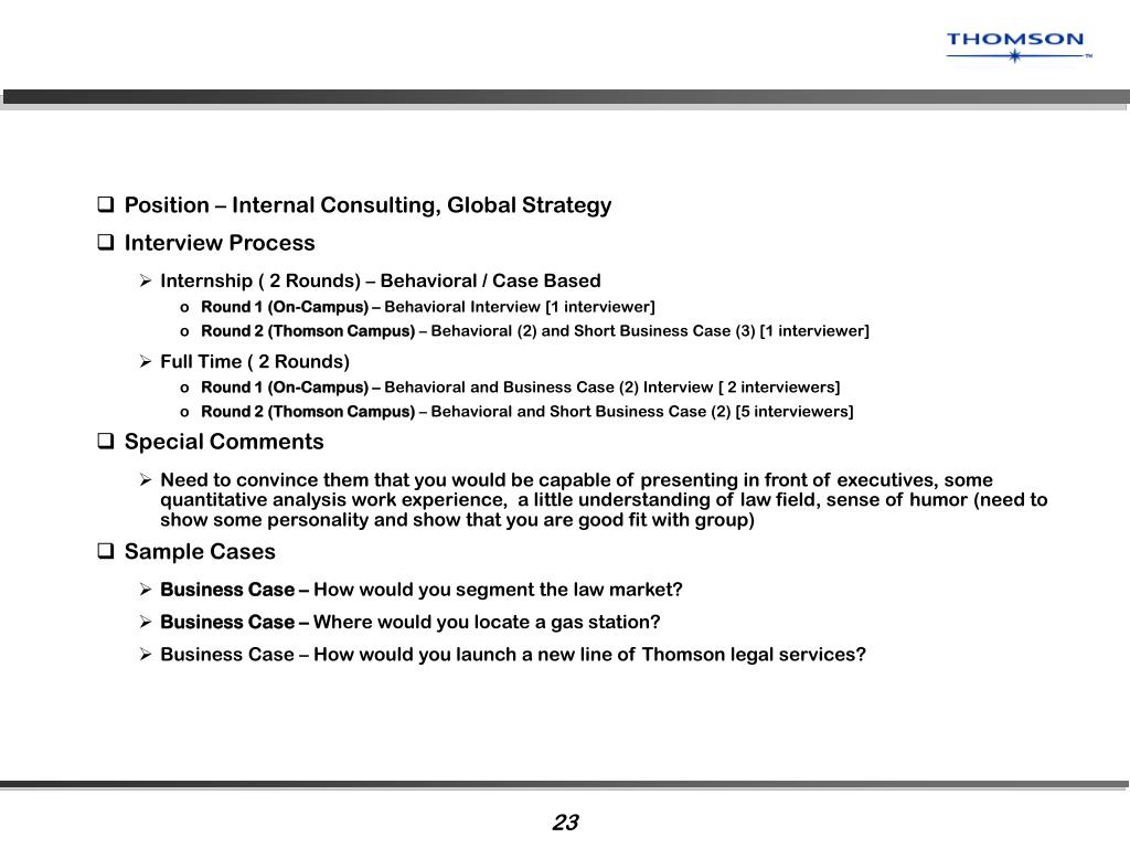 Position – Internal Consulting, Global Strategy