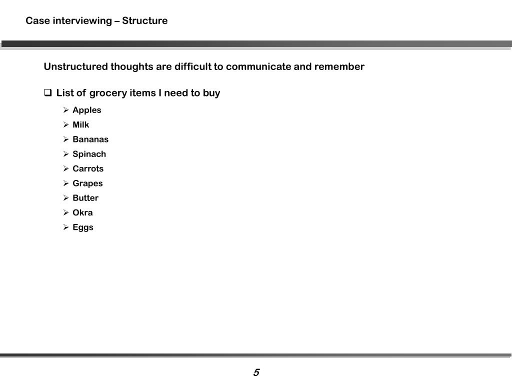 Case interviewing – Structure