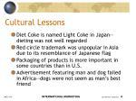 cultural lessons