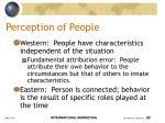 perception of people