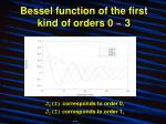 bessel function of the first kind of orders 0 3