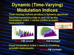 dynamic time varying modulation indices