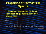 properties of formant fm spectra11