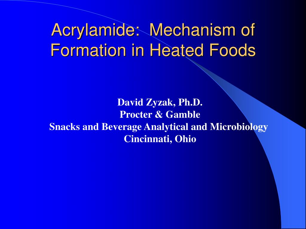 acrylamide mechanism of formation in heated foods l.