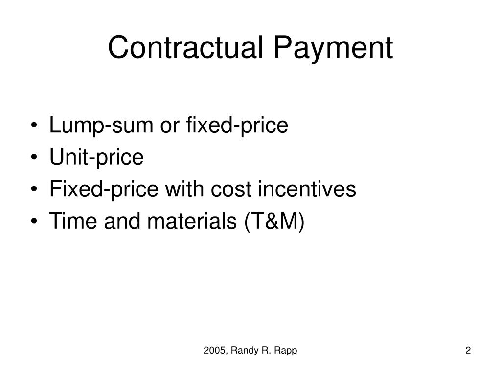 Contractual Payment