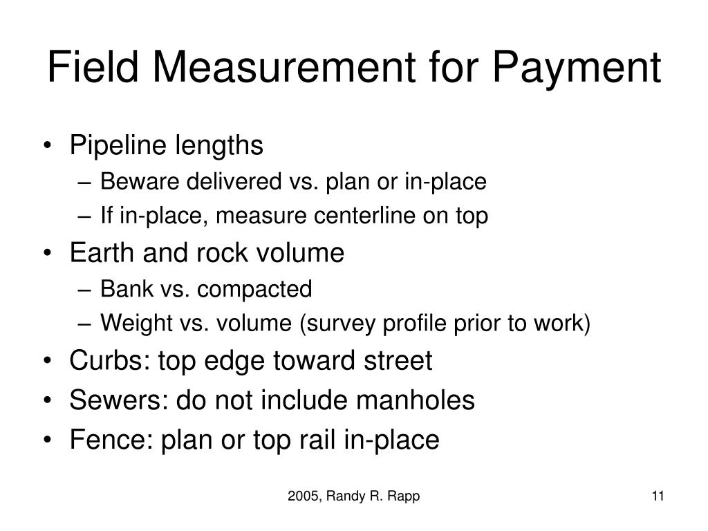 Field Measurement for Payment
