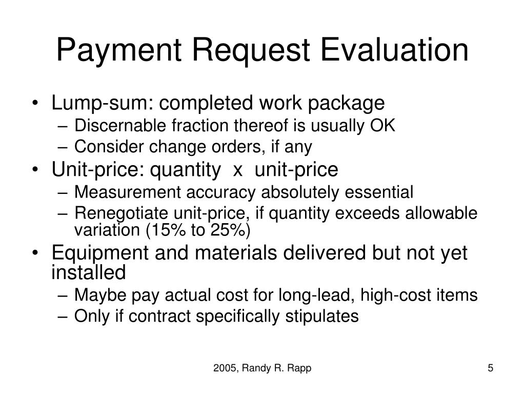 Payment Request Evaluation