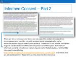 informed consent part 2