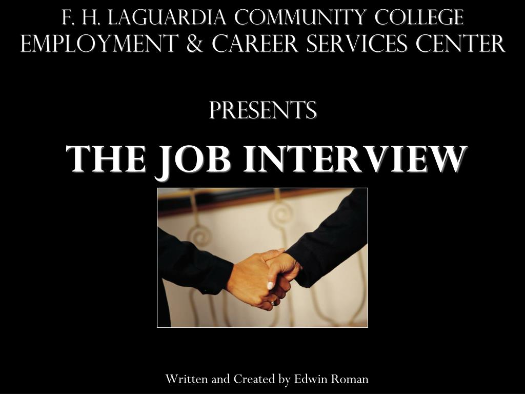 f h laguardia community college employment career services center presents l.