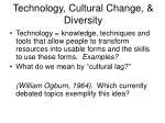 technology cultural change diversity