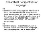 theoretical perspectives of language12