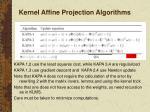 kernel affine projection algorithms