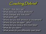 coaching debrief