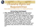 citizenship rights and responsibilities power authority and governance civic ideals and practices18