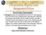 citizenship rights and responsibilities power authority and governance civic ideals and practices19