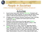 people in societies culture individual development and identity groups and institutions